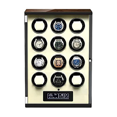 Enrollador Reloj Automático 12 con Mando A Distancia Pantalla Táctil Almohadas Reloj...