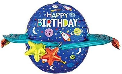 Colorful Happy Birthday Galaxy Jumbo 29 Foil Party Balloon