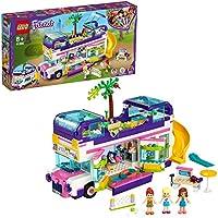 LEGO Friends - Bus de la Amistad, Set de Construcción de Autobús de Juguete con Piscina y Tobogán, Incluye Muñecas de...
