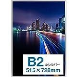 【Amazon.co.jp 限定】Kenko ポスター用アルミ額縁 パチット ポスターフレーム B2 フロントオープン式 シルバー 日本製 AM-APT-B2