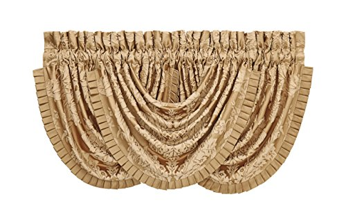 Colonial Goldtone Waterfall Valance