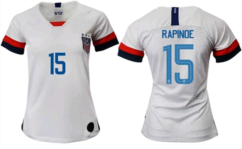 Sybabyt USA Megan Rapinoe  15 Women's Home Soccer Jersey & Short Kit White