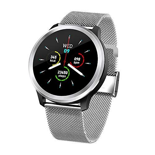 ZUEN Smart Watch EKG PPG HRV Herzfrequenz Fitness Tracker Monitor mit Blutdruckmessgerät und Blutsauerstoffmessgerät Smart Watch IP68 Wasserdicht,A