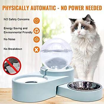 maohegou Fontaine à eau pour chat 1,8 l Distributeur d'eau automatique pour chien Distributeur d'eau pour chat bleu