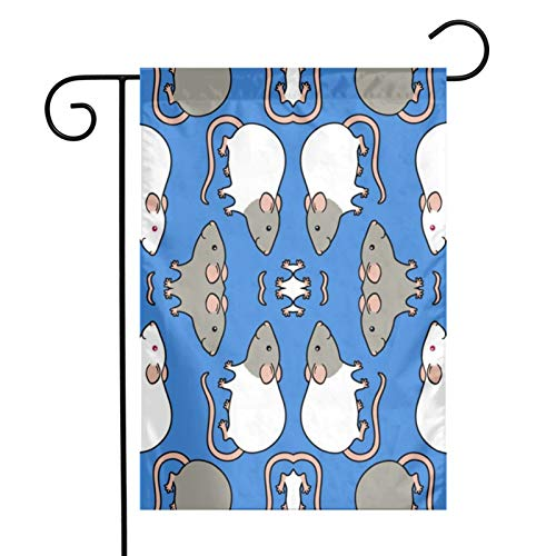 KAWAHATA Lovely Mice UV Fade Resistant Garden Flags Custom Vivid Color Home Decoration
