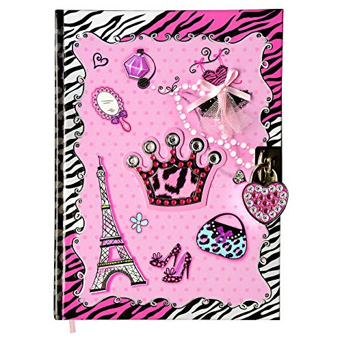 SMITCO Diary with Lock for Girls - 5 to 14 Year Old Girl Birthday Gifts - Secret Pink Hardcover Writing Journal - Double-Sided Lined Pages Book, Cute Heart Shaped Lock and 2 Silver Keys