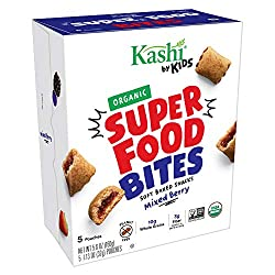 Kashi by Kids Super Food Mixed Berry Bites - Soft Baked Organic Snacks, 5 Count (Pack of 5)