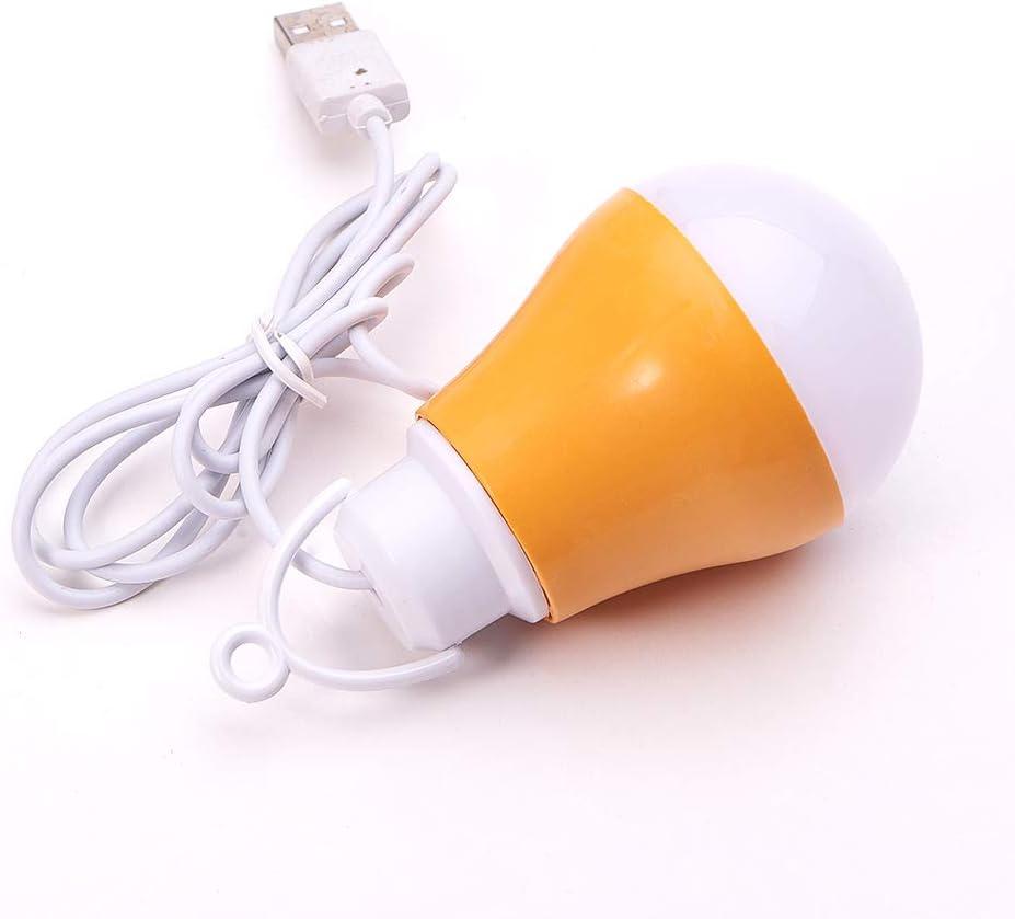 Othmro USB Bulb lamp DC3V-12V 5W 6500-7000K 0.9 Power Factor PC Lamp Body Material 5730 Lamp Bead Model Orange 1PCS