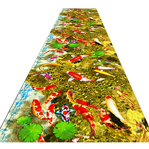 HAOXIANG Modern Carpet Mat Non-Slip, Home 3D Hallway Runner Rugfor Living Room Bedroom Hallway Kitchen Can Be Cut, Thickness 0.6Cm, 1㎏ / ㎡,120x400cm/3.94x13. 12ft