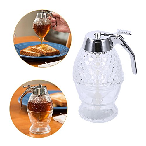 Find Bargain Juice Dispenser, MAGT 200 Ml Acrylic Honey Dispenser Transparent Shake Handshandle Juic...