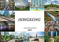 Hongkong Bilder einer Metropole (Wandkalender 2022 DIN A4 quer): Farbenfrohe beeindruckende Bilder der Metropole Hongkong (Monatskalender, 14 Seiten )