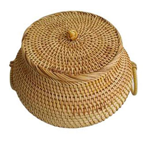 Hornear en casa Caja de almacenamiento de té de otoño de ratán suelto de té de alta gama Estilo pastoral de alta gama Material natural Material Natural caja de refrigerios