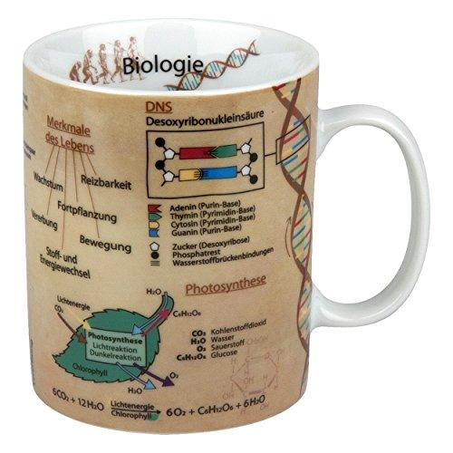 Wissenschaftsbecher / Wissensbecher / Becher Biologie 460ml Könitz Porzellan Tasse