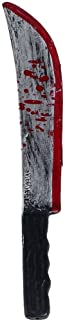 Psycho Killer Costume Accessory Bloody Toy Machete Knife Gray/Black