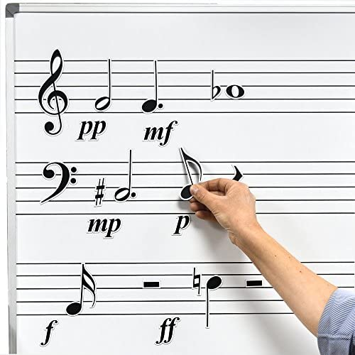 Chamberlain Music Magnetic Music Symbols for Whiteboards Notes rests accidentals expression product image