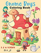 Gnome Boys Coloring Book: gnome coloring book for kids