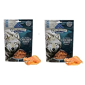 Blue Buffalo Wilderness Chicken Dog Jerky Treats-3.25 oz (Pack of 2)