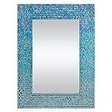 NDD Catarina Rectangular Mosaic Glass Wall Mirror in Aqua by Notre Dame Design