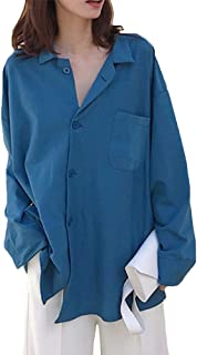 Heaven Days(ヘブンデイズ) ロングシャツ シャツ 長袖 ロング チュニック 長袖シャツ 長め丈 ドロップショルダー 無地 レディース 1810C0028