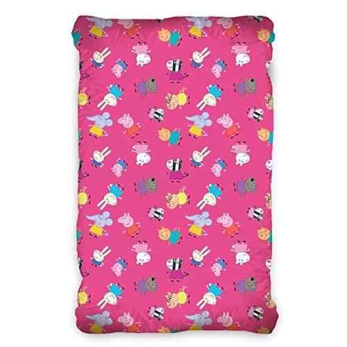Peppa Pig Pink Einzelnes Spannbetttuch