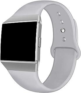 Kmasic Kompatibel Fitbit jonisk armband, mjuk silikon sport sele tillbehör andas ersättning armband för Fit bit Ionic Smar...