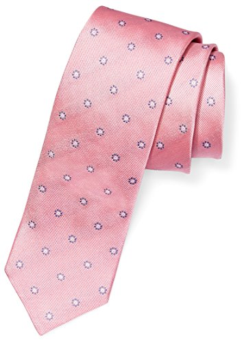 "BUTTONED DOWN Men's Classic Silk 3"" Necktie, Pink/Blue Flowers, Regular"