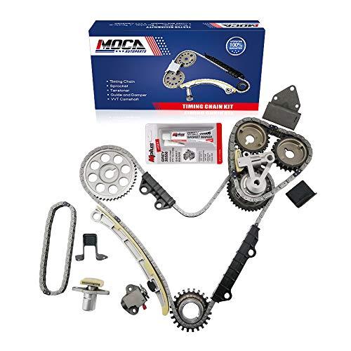 MOCA Engine Timing Chain Kit for 2001-2004 Chevrolet Tracker & 1999-2005 Suzuki Vitara XL-7 2.5L 2.7L V6 24V DOHC H25A H27A