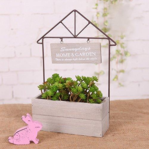 Boîte en bois Pots de fleurs Nordic Simple Style Home Boxes Props Cadeau Fleur Stand Décoration
