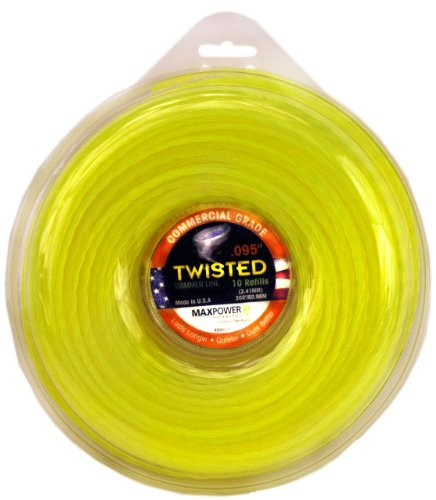 Maxpower 338814 Premium Twisted Trimmer Line .095-Inch Twisted Trimmer Line 200-Foot Length