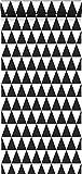 papier peint triangles géométriques graphiques noir et blanc mat - 128845 -...