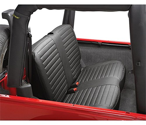 Bestop 2922935 Black Diamond Seat Covers for Rear Bench Seat - Jeep 2003-2006 Wrangler
