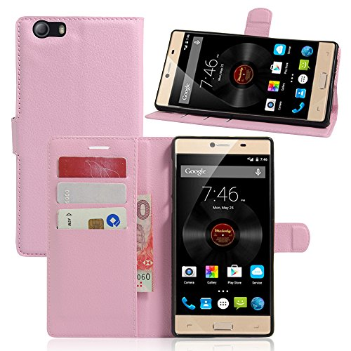 Litao-Case CN Hülle für Elephone M2 hülle Flip Leder + TPU Silikon Fixierh Schutzhülle Case 4