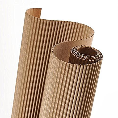Rollo 50x70 cm, Canson Cartón Ondulado 300g, Beige Natural ✅