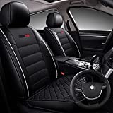 SuperVibe Auto Full Coverage Faux Leather Car Seat Covers with...