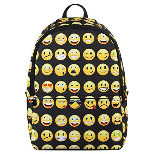 Veevan Zaini da Scuola con Emoji per Bambini(Nero)