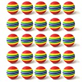 Fasmov 30 Pack Rainbow Foam Golf Training Balls Golf Ball Training Sports Balls Golf Foam Practice Balls Golf Accessories