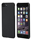 iPhone 8 Plus Hülle/iPhone 7 Plus Hülle von PITAKA Aramid - schwarz / grau (Köper) 5.5 Zoll...