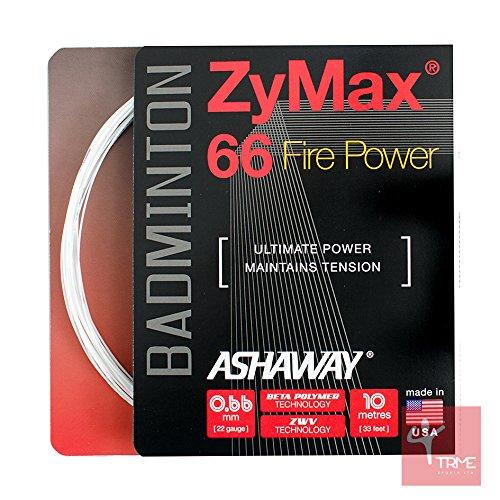 Ashaway Cordage de badminton Zymax 66Fire Power...