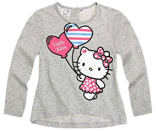 T-shirt bébé fille manches longues Hello kitty Gris de 3 à 24mois (12mois)