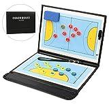 Junenoma Handball Taktiktafel, Professional Faltbares Handball Taktikmappe Taktiktafel Coachboard...