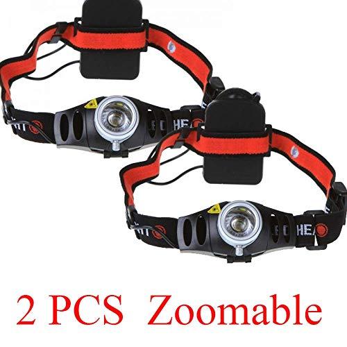 2 PCS 2 Mode 1200LM CREE Q5 AAA LED Lampe Frontale Zoomable Zoom Camping Tête Lumière Torche Étanche Lampes De Poche