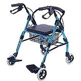HYJ Deambulatori per Anziani Drive Medical Walker Rollator può sedersi e Piegare Il Walker Anziani Due Freni a Mano con Un Carrello