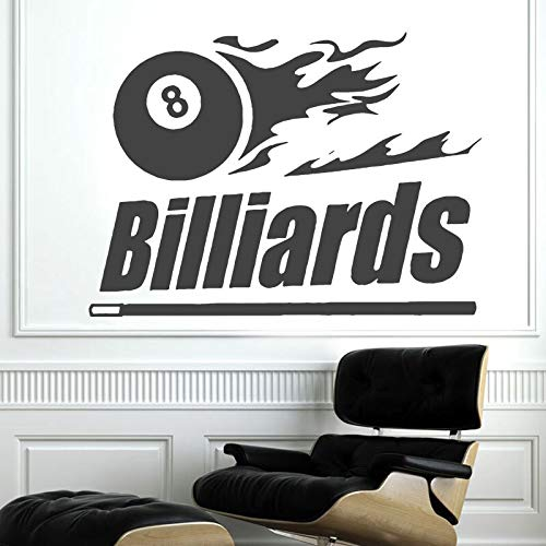 keletop Billard Billard Tisch Wandaufkleber Vinyl Wandaufkleber Billard Club Indoor Home Dekoration Wandtattoo abnehmbare Wand Poster 58x42cm
