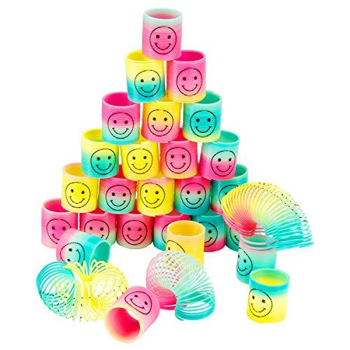 MADHOLLY 30 Piezas Rainbow Spiral, Magic Rainbow Circle, Magic Rainbow Spring como Juguetes para niños, Decoraciones para Fiestas, Regalos de cumpleaños