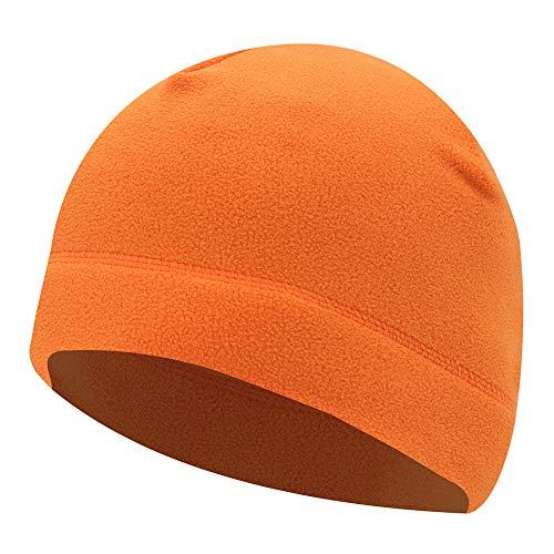 SANGSHI Gorro de running para hombre y mujer, gorro de ciclismo, gorro deportivo, térmico, transpirable, para correr, esquí, snowboard, correr, ciclismo, motociclismo naranja 1