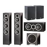 (1Pair) ELAC -Debut F5 Tower Speakers (Ea) + ELAC C5 Debut 5.25'...