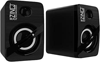 (Renewed) Zinq Technologies ZQS-111 Beast USB 2.0 Computer Mini Audio Speaker (Black)