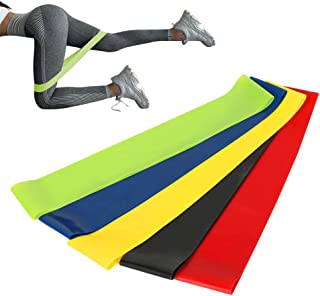 Elastic Loop Exercise Resistance Bands Set for Fitness Yoga Workout Home Gym Training Physiotherapy, Strength Latex Rubber...