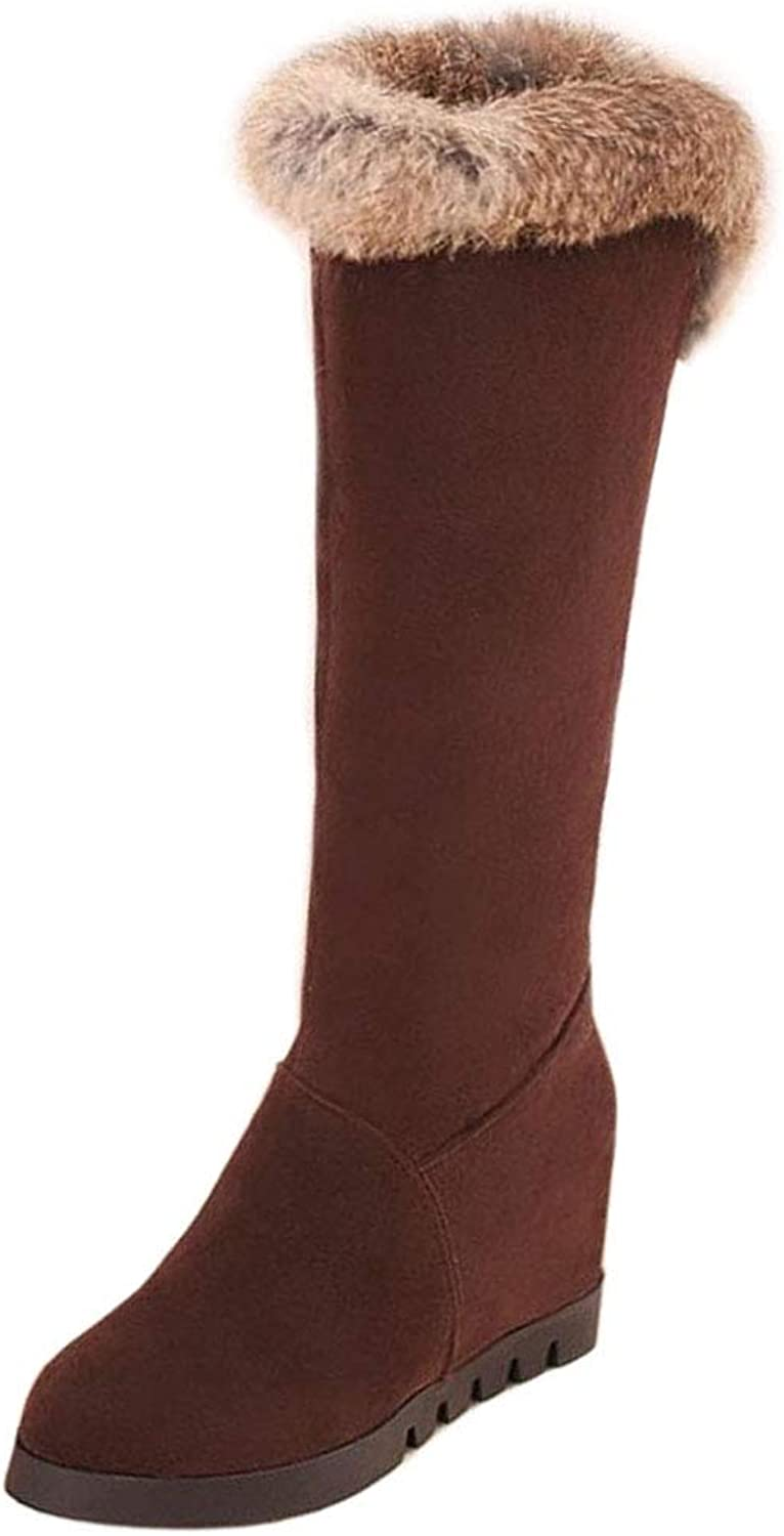 Lydee Women Fashion Winter shoes Warm Lined Knee Boots Pull On