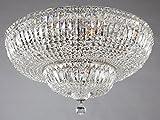 Plafonnier extravagant, avec designe élégant, style baroque, en cristaux, Armature en Métal couleur argent, plafonnier en cristal, ampoules non incl. 16 lampes, E14 16 x 60W 220V